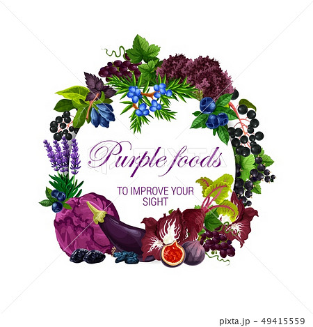 Color diet, purple food healthy nutrition veggies 49415559
