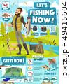 Fishing sport adventure, fisher catch equipment 49415604