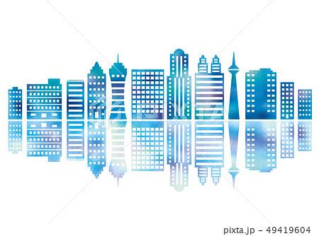 オフィス街のビル水彩 49419604