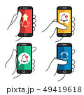 Push notification phone in hand 49419618