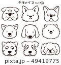 犬 動物 可愛いのイラスト 49419775