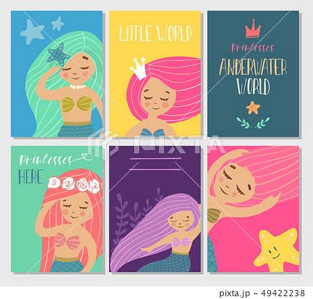 Beautiful and cute mermaids. 49422238