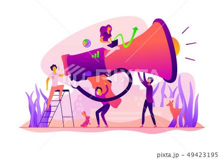 Marketing team concept vector illustration. 49423195