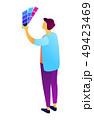 デザイナー 立体 3Dのイラスト 49423469