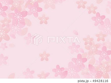 桜の水彩風の背景素材 49428116