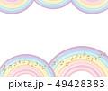 背景素材 フレーム 虹のイラスト 49428383