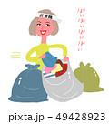 断捨離する女性 49428923