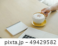 Closeup image of woman hand holding a cup 49429582
