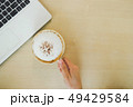 Closeup image of woman hand holding coffee 49429584