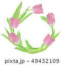 tulip wreath チューリップ リース 水彩 49432109