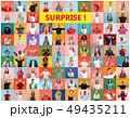 貼り絵 グループ 人の写真 49435211