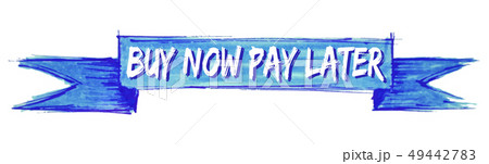 buy now pay later ribbon 49442783
