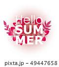 フラワー 花 HELLOのイラスト 49447658