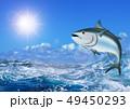 鮪 海 荒波のイラスト 49450293