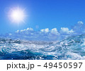 空と荒波と太陽 49450597