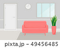 red sofa in the room 49456485