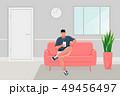 Man sitting on the sofa 49456497