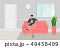 Man sitting on the sofa 49456499
