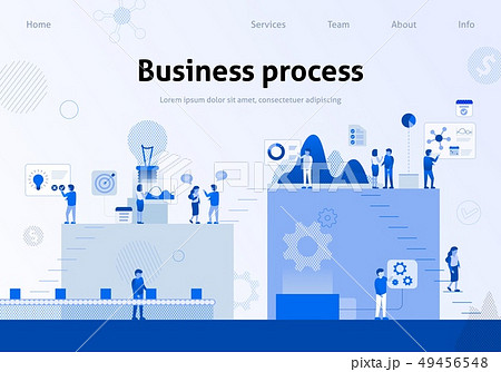 Business Process Efficiency Team Metaphor Banner 49456548