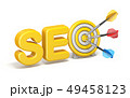 SEO Search engine optimization target with arrows 49458123