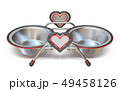 Double pet bowl with hearts 3D 49458126