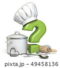 Question mark with cooking hat and kitchen 49458136