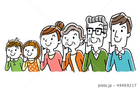 イラスト素材:考える家族 49469217
