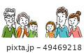 イラスト素材:考える家族 49469218