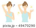 女性 ワキ脱毛 before after 02 49470290