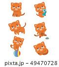 Set of different cartoon cats. . 49470728
