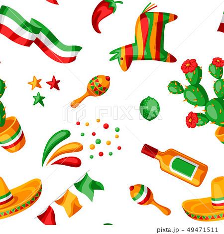 Mexican Cinco de Mayo seamless pattern. 49471511