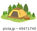 テント アウトドア キャンプのイラスト 49471740