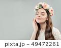 花 女 女の人の写真 49472261