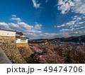 津山城跡 桜 晴れの写真 49474706