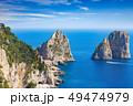 Daylight view of famous Faraglioni Rocks, Capri 49474979