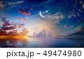 Ramadan Kareem religious background with mosque 49474980