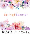 花 フラワー お花のイラスト 49475015