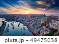 Sunset view of beautiful Procida, Italy 49475038