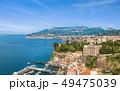 Aerial view of Marina grande, coastline Sorrento 49475039