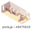 Vector isometric public female toilet room 49475819
