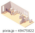 Vector isometric public male toilet room 49475822