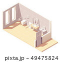 Vector isometric public accessible toilet 49475824
