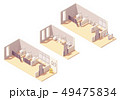 Vector isometric public pay toilet rooms 49475834
