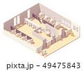 Vector isometric public pay toilet 49475843