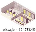 Vector isometric locker room 49475845