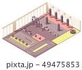Vector isometric crossfit gym interior 49475853