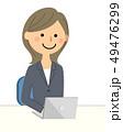 スーツの女性 ノートPC 49476299