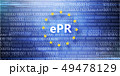 General regulations for protection of personal data. Inscription in circle of yellow stars . 49478129