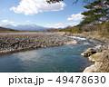 佐貫観音橋上流からの鬼怒川と日光連山 49478630