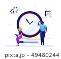 Time management - flat design style colorful illustration 49480244